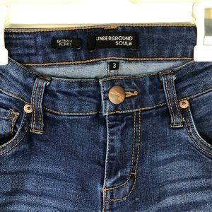 Underground Soul Jeans - Underground Soul Skinny Boho Flare Jeans C61